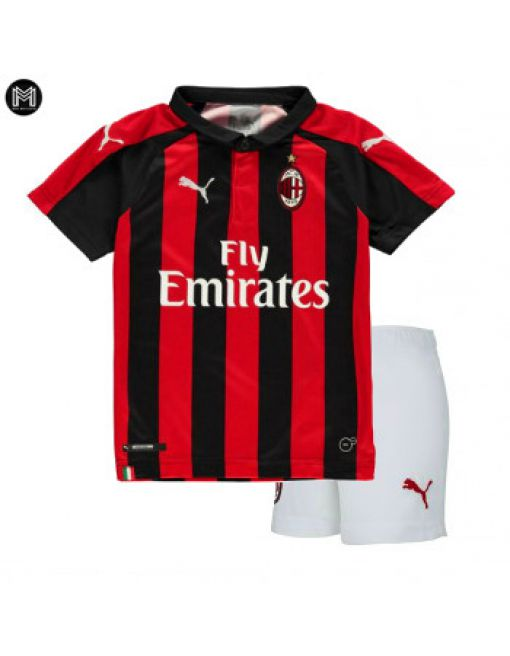 Ac Milan Domicile 2018/19 Kit Junior