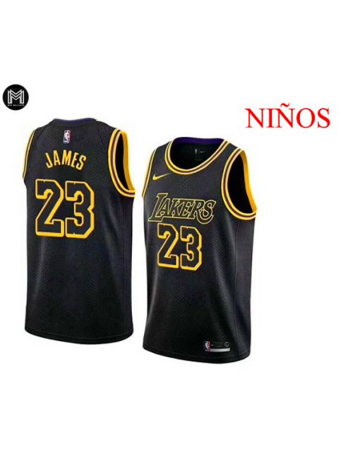 Lebron James La Lakers City Edition -niÑos