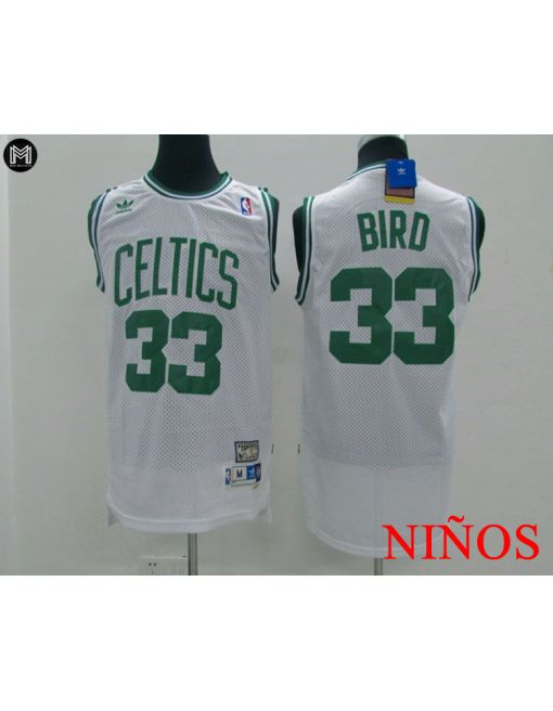 Larry Bird Boston Celtics Blanca -niÑos