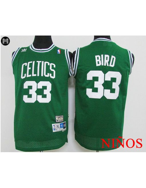 Larry Bird Boston Celtics Verde -niÑos
